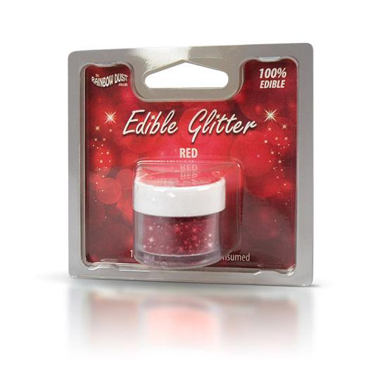 Rainbow Dust Edible Glitter 5g - Red