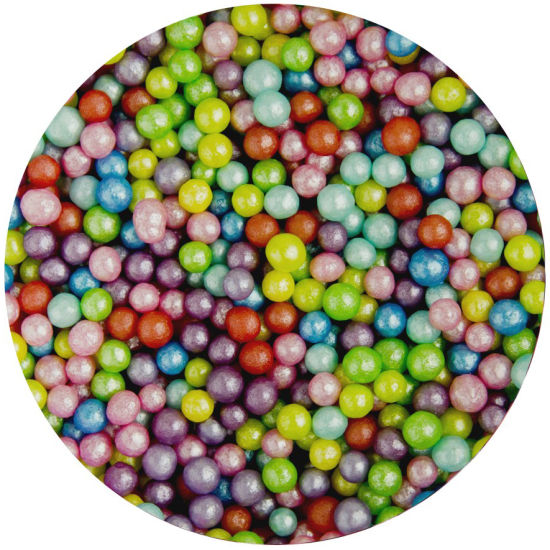 Scrumptious Sugar 4mm Pearls Rainbow Mix 80g