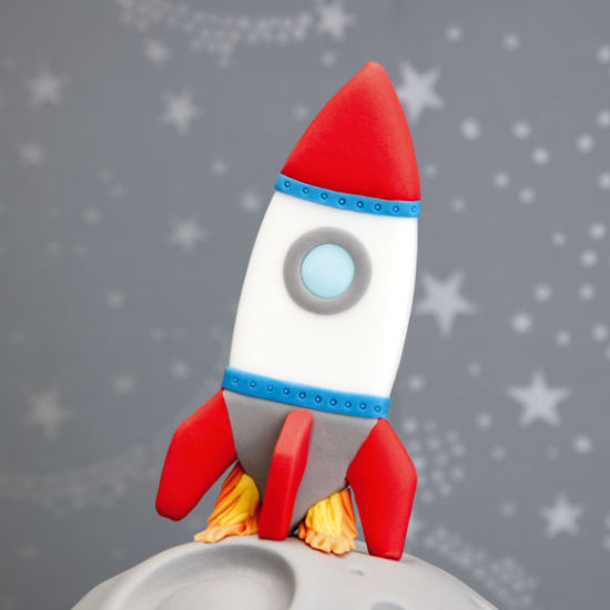 SK Rocket Cookie Cutter