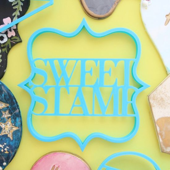 Sweet Stamp Blank Canvas Plaque Cutter