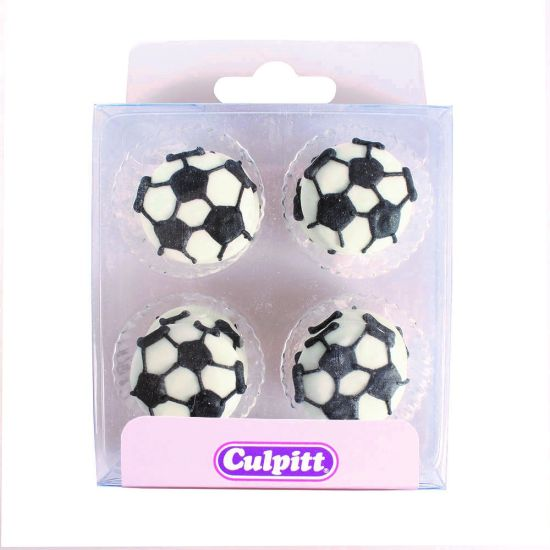 Football Sugar Decorations set of 12