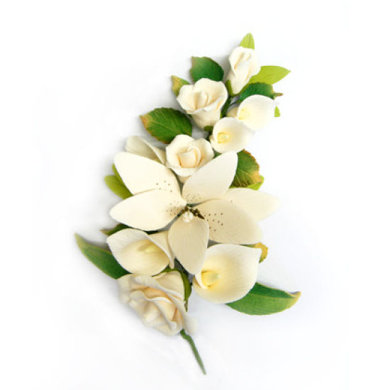 Ivory Peace Rose, Calla and Tiger Lily Sugar Spray