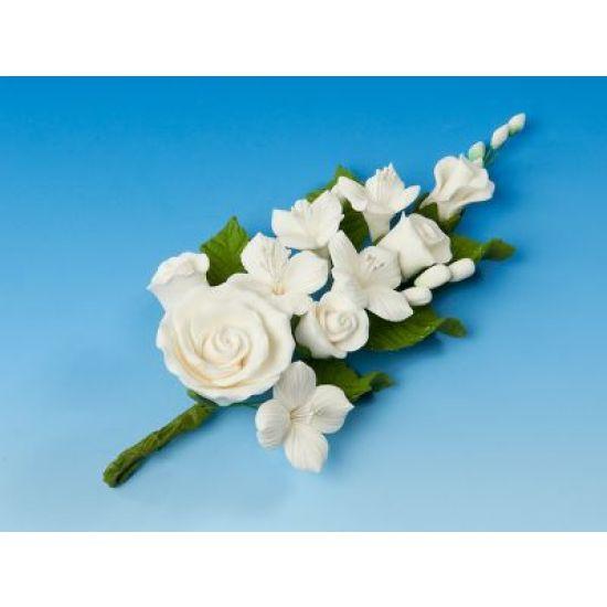 Large White Rose & Dogwood Spray