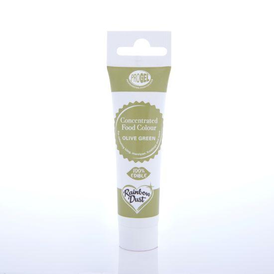 Rainbow Dust ProGel Professional Food Colour - Olive Green
