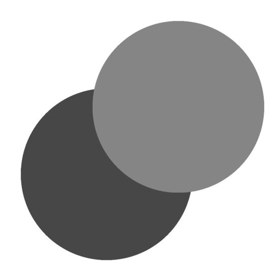 "LissieLou Set of 2 Circle Ganache Plates 8.25"""