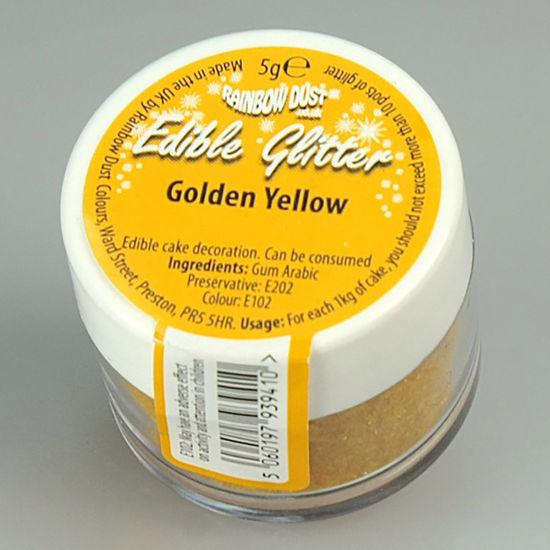 Rainbow Dust Edible Glitter 5g - Golden Yellow
