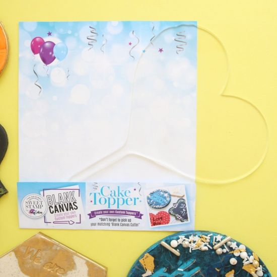 Sweet Stamp Blank Canvas Heart Blank Topper
