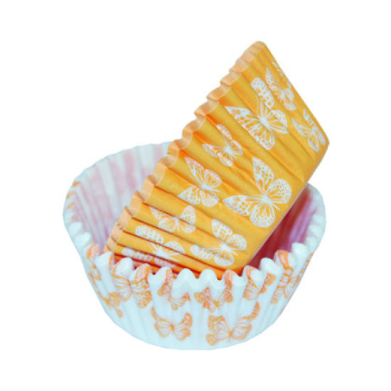 SK Cupcake Cases Butterfly Orange Pack of 36