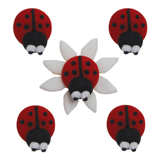 Sugar Ladybirds - Set of 5