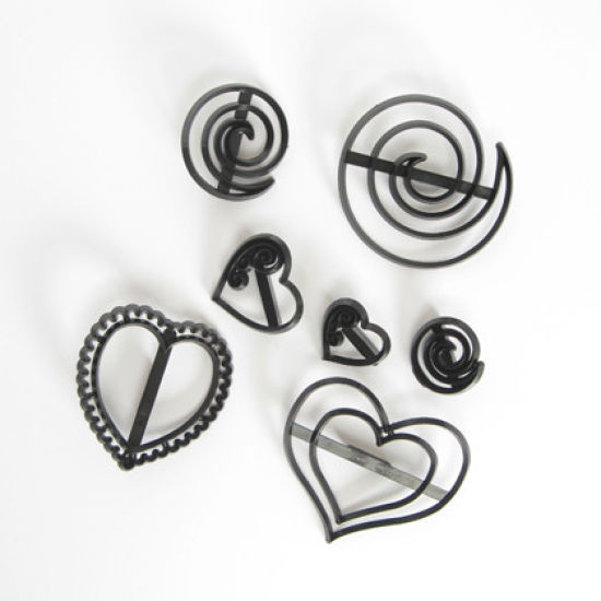 Patchwork Cutter & Embosser Swirls and Hearts