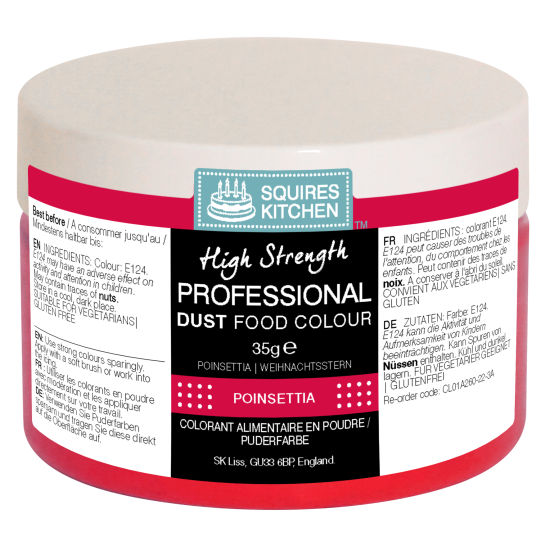 SK Professional Food Colour Dust Poinsettia (Xmas Red) 35g