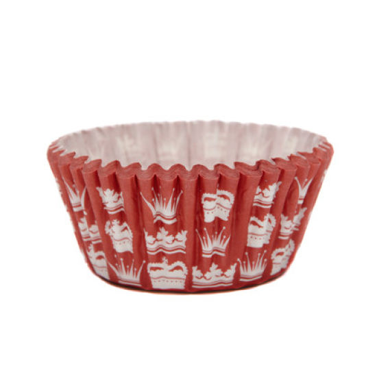 SK Cupcake Cases Crown Red Pack of 36