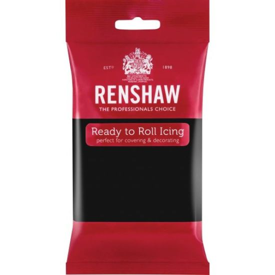 Renshaw Ready to Roll Icing Jet Black 1kg