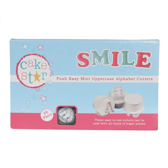 Cake Star Push Easy Cutters - Mini Uppercase Alphabet Set