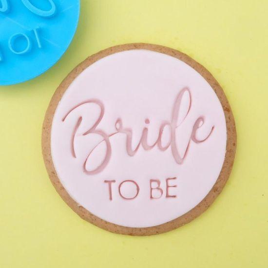 Sweet Stamp Trendy Bride to Be Cupcake Embosser