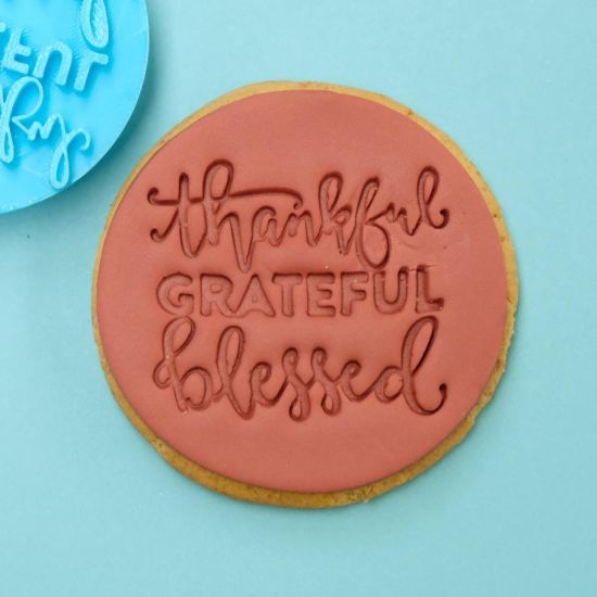 Sweet Stamp Thankful Grateful Blessed Cupcake Embosser