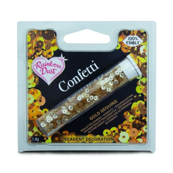 Rainbow Dust Edible Sequins Gold Confetti