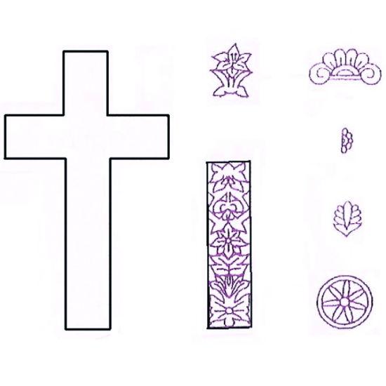 Patchwork Cutter & Embosser Large Lace Cross Set