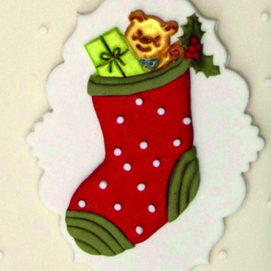 Patchwork Cutter & Embosser Christmas Stocking