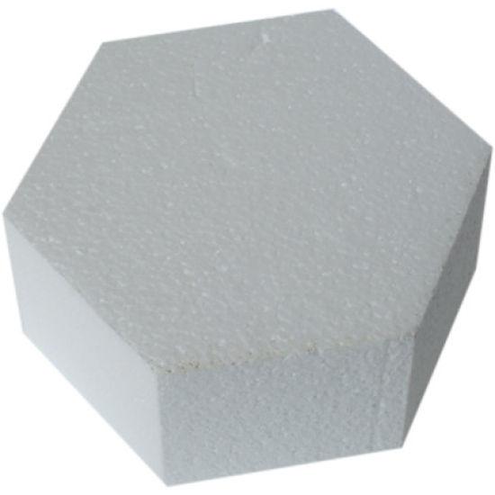 Hexagonal Straight Edged Cake Dummy - 6 Inch