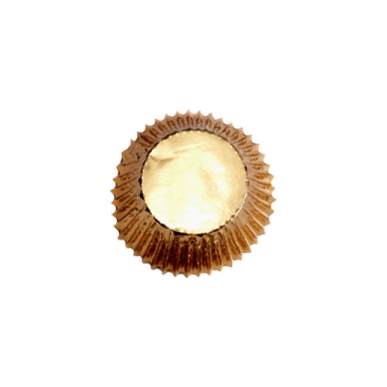 Gold Mini Cupcake Cases Pack of 45