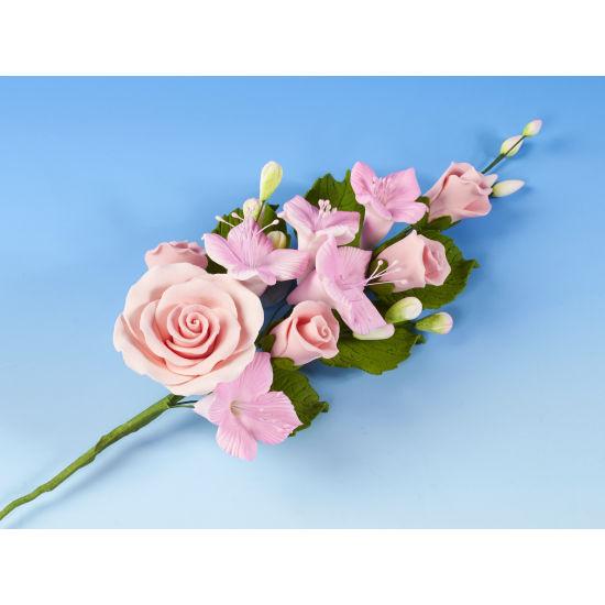 Large Pink Rose & Dogwood Spray