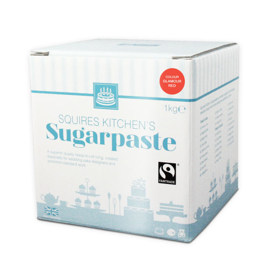 SK Fairtrade Sugarpaste Glamour Red 1kg
