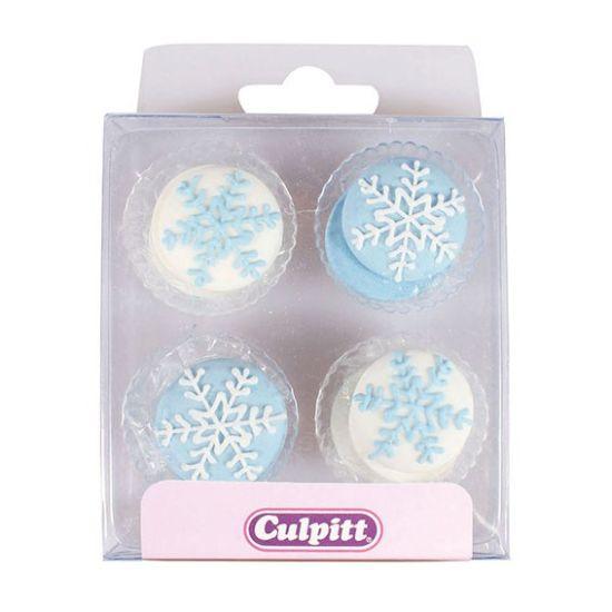 Snowflake Sugar Decorations Set of 12