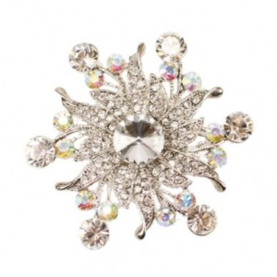 Large Diamond Diamante Brooch