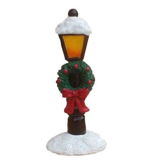 Snowy Lamp Post Resin Topper
