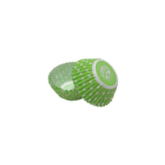 SK Mini Cupcake Cakes Dotty Green Pack of 50
