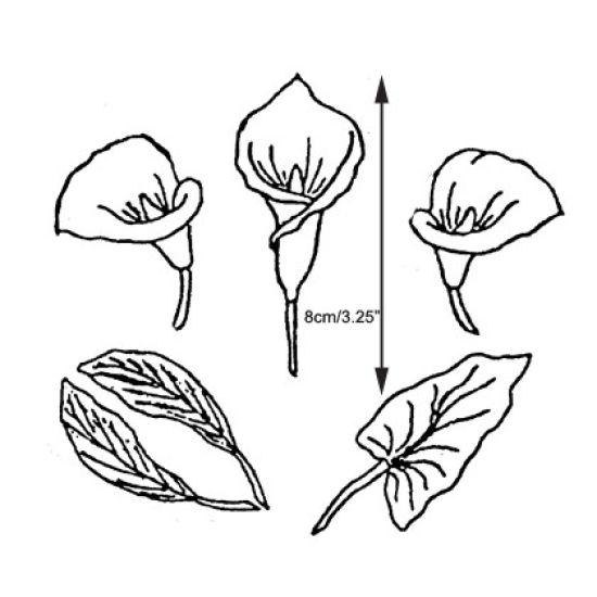 Patchwork Cutter & Embosser Arum Lily