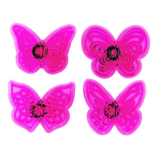 Jem Butterfly Cupcake Topper Set of 4