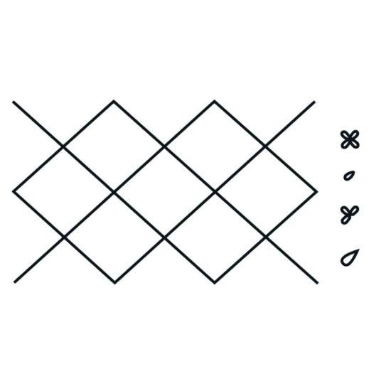 Patchwork Cutter & Embosser Diamond Side Design