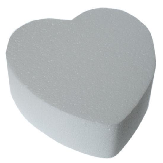 Heart Straight Edged Cake Dummy - 6 Inch