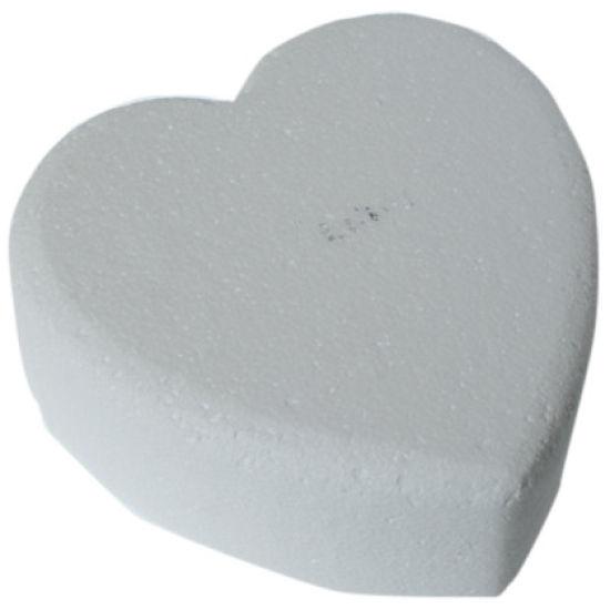 Heart Chamfered Edged Cake Dummy - 8 Inch