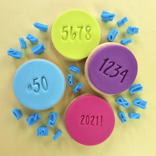 Sweet Stamp Mini Message Add-ons Embosser Set - Numbers & Symbols Script