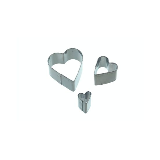 Sweetly Does It Set of 3 Heart Fondant Cutters