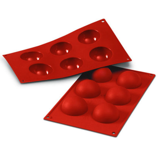 Large Half-Sphere Silicone Mould - Set of 6 (60mm)