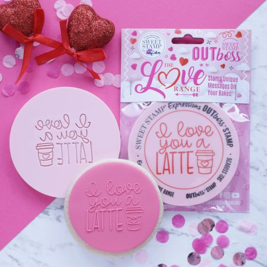 Sweet Stamp OUTboss Love Expressions I Love You A Latte