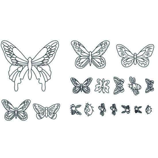 Patchwork Cutter & Embosser Butterflies, Ladybirds and Bees