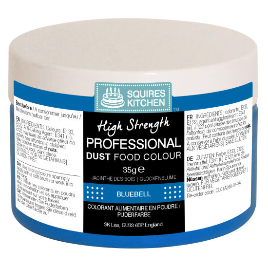 SK Professional Food Colour Dust Bluebell (Navy Blue) 35g