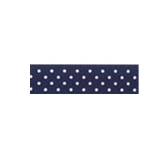 Dotty Satin Ribbon Navy Blue 15mm