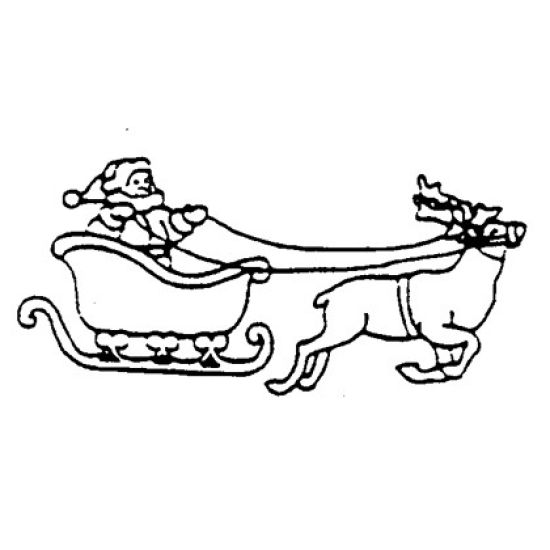 Patchwork Cutter & Embosser Santa/Sleigh