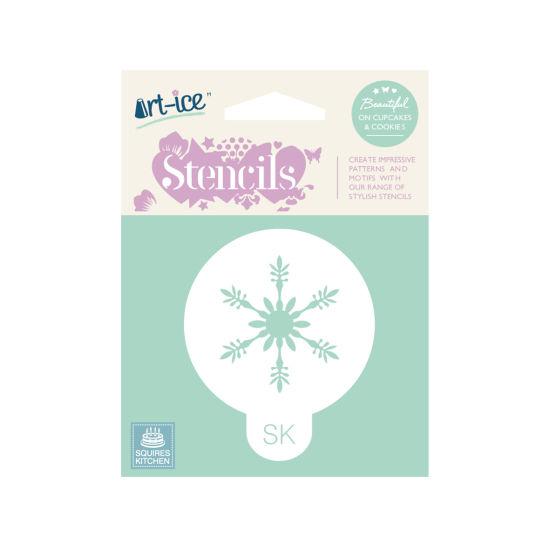 SK Art-ice Stencil Round Frosty Snowflake