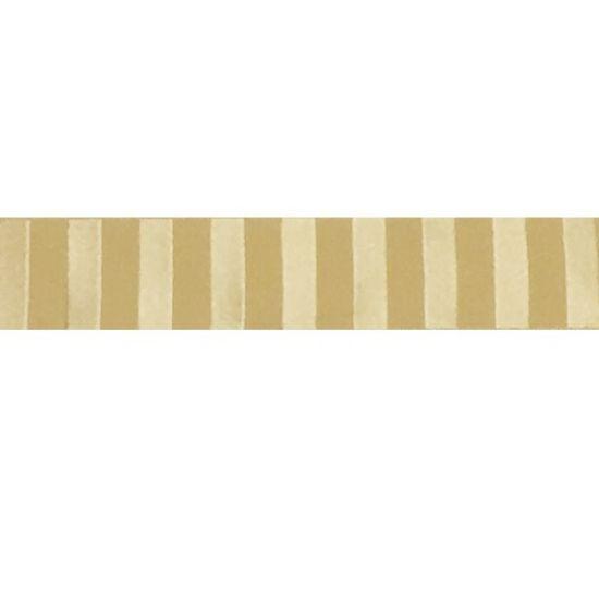 Satin Stripes Ribbon Gold 25mm