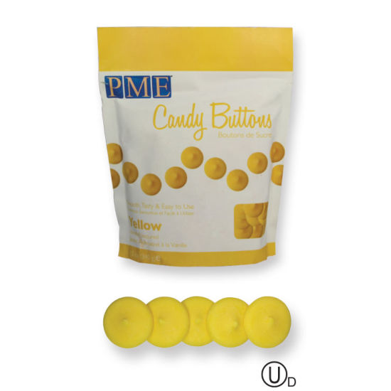 PME Candy Buttons - Yellow 340g (12oz)