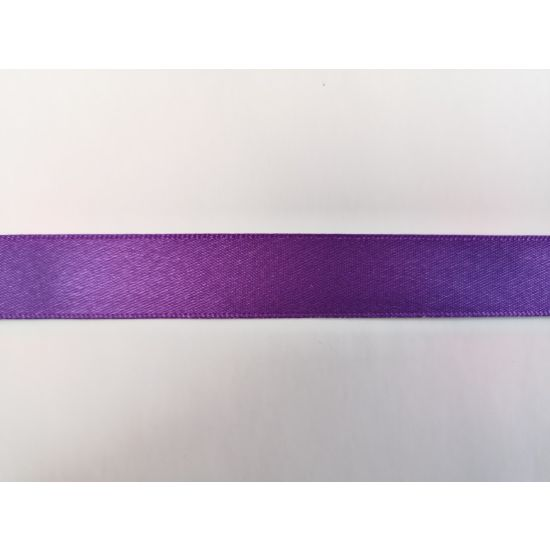 Purple Double Faced Satin Ribbon - 15mm