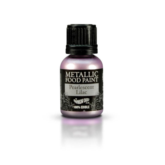Rainbow Dust Metallic Food Paint - Pearlescent Lilac 25ml