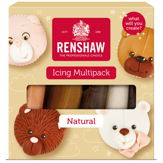 Renshaw Ready to Roll Icing Natural Colours Multipack 5x100g